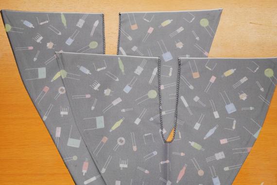 切り口をかがり縫いしてほつれるのを防ぎます 折り畳み傘をエコバックにリメイク(作り方)