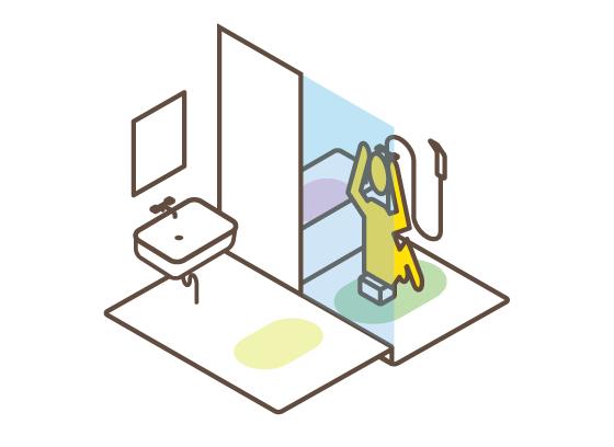 浴室浴槽の使い方の違い