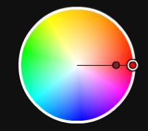 同一色相配色、類似色相配色
