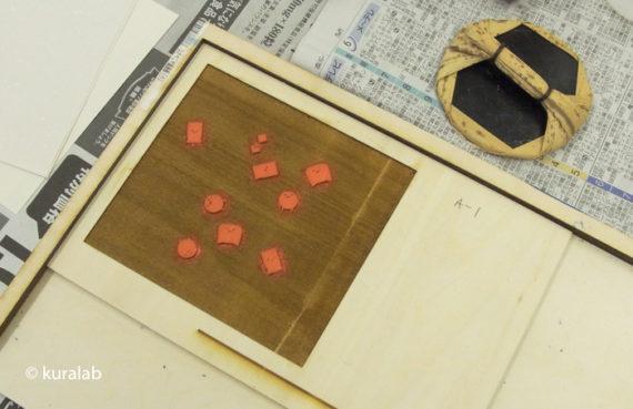 レーザー加工機で木版画3