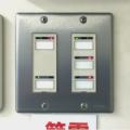 教室の蛍光灯のスイッチパネル2